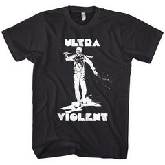A Clockwork Orange Ultra Violent Mens Black T-shirt