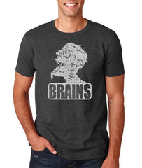 Brains Zombie T-shirt - Mens