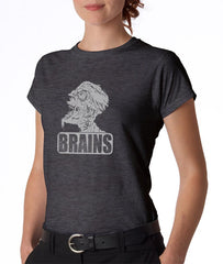 Brains Zombie T-shirt - Women's