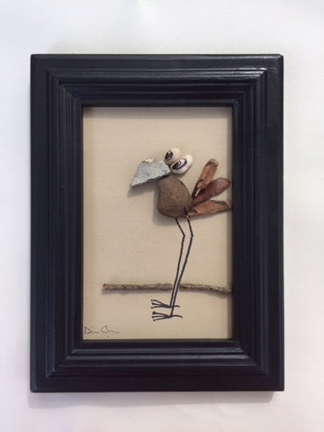 Pebble Art DoDo Bird picture