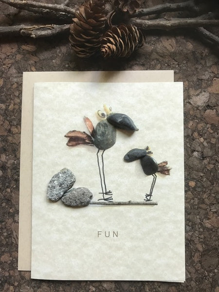 "Pebble Art ""Fun"" Greeting Card"