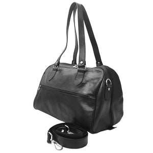 (I Medici Leather Duffel Italian Handbag /I Medici Leather Carry On Duffel Italian Bag