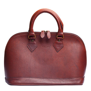 Italian Brown Leather Handbags by I Medici 2500