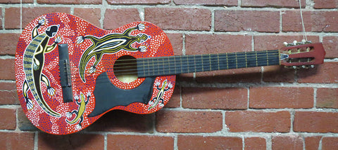 No Name Classical Art Painted Guitar