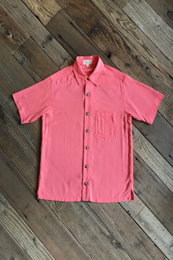 Unisex Button Up in Watermelon Rosé