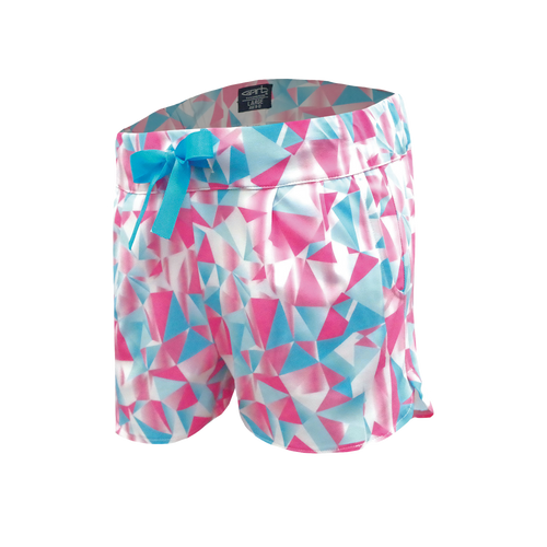 Crystal - Girl's Diamond Print Performance Golf Shorts