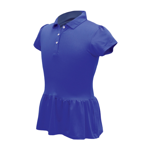 Darcy - Girls Performance Peplum Golf Polo