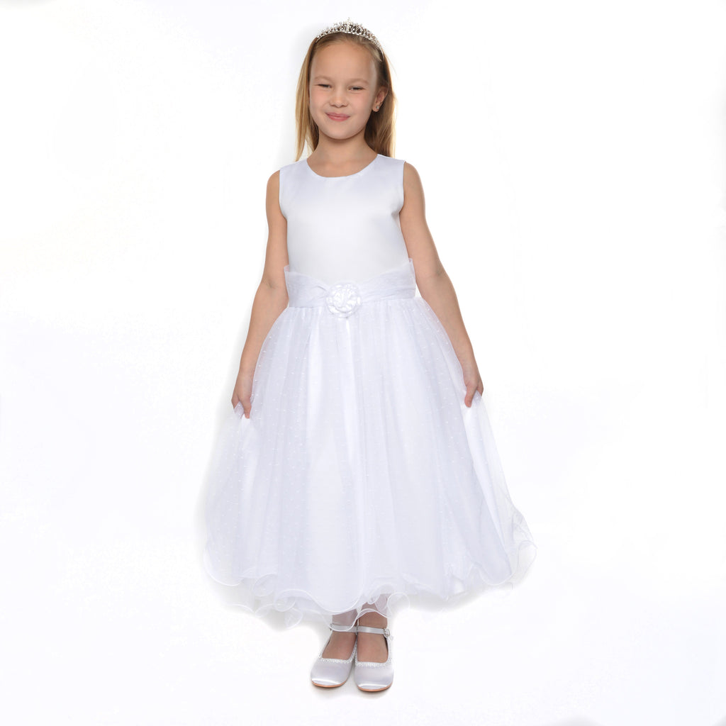 Verity White Flower Girl Dress & Jacket 6y only left