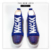 AEE High-Top Rhinestone Lace-Up Casual Shoes