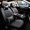 Front&Rear Seat Cushions - Black With White Stitching