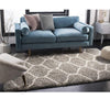 Soft Grey And Ivory Plush Rug(4 X 6)