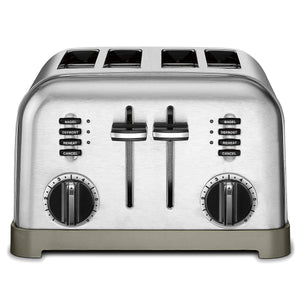 Metal Classic 4-Slice Toaster,Brushed Stainless