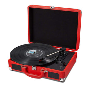 Stereo Red Portable Turntable Suitcase