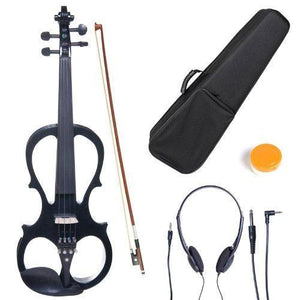 Solid Wood Electric/Silent Violin With Ebony Fittings