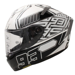 Sports Bike Racing Motorcycle Helmet-White