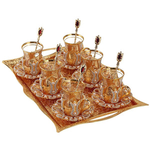 Tea Glasses Sets with Saucers