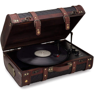 Vintage Suitcase Turntable With Bluetooth & USB