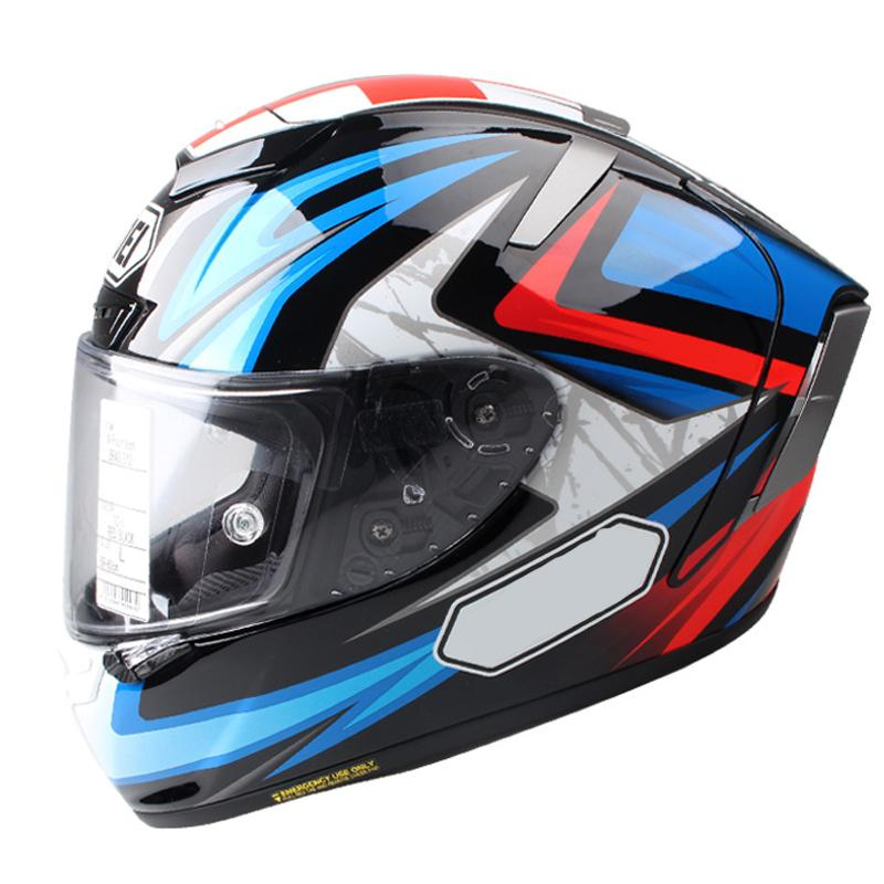Sports Bike Racing Motorcycle Helmet-Red/Blue