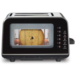 Toaster With Windows On 2 Sides,Black