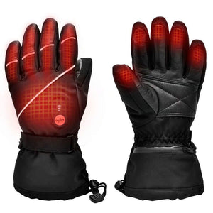 Upgraded Heated Sheep Leather Gloves For Men Women