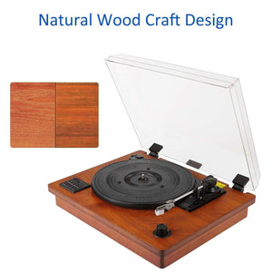 Vintage Style Record Player Built-in Stereo Speaker