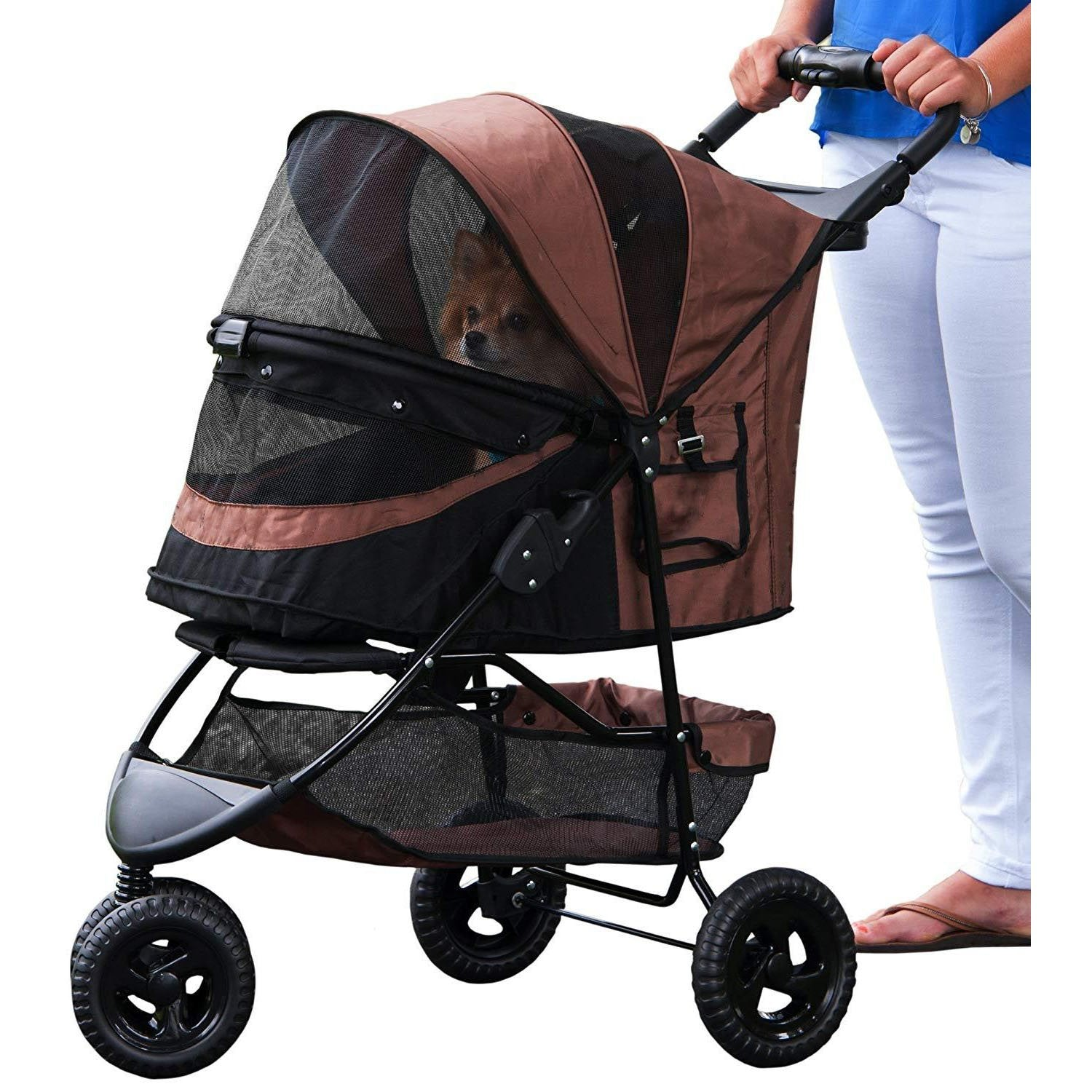 No-Zip 3 Wheel Pet Stroller For Cats/Dogs