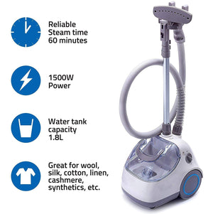 Heavy Duty Powerful Fabric Steamer with Fabric Brush