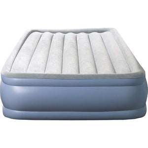 Raised-Profile Air Bed with External Pump