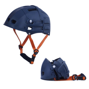 Foldable Bicycle Helmet, Matte Blue