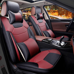 Microfiber Leather 5-Seats Car Seat Cover
