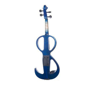 Solid Wood Blue Metallic Electric/Silent Violin