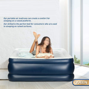Twin and  Size Portable Inflatable Double Airbed