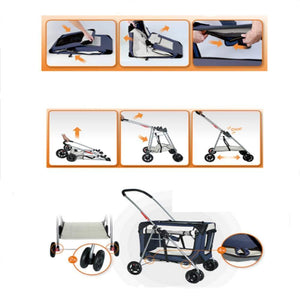 Small Light and Portable Foldable Pet Stroller