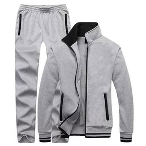 Vintage Classic Running Solid Color Men's Tracksuit
