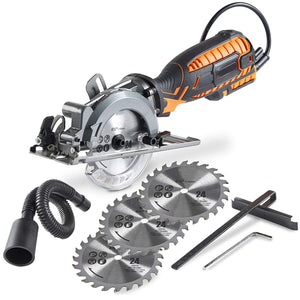 Compact Circular Saw With Adjustable Miter Function