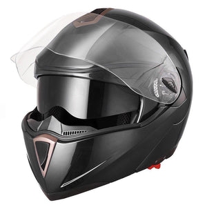 Removable Full Face Flip Up Motorcycle Helmet