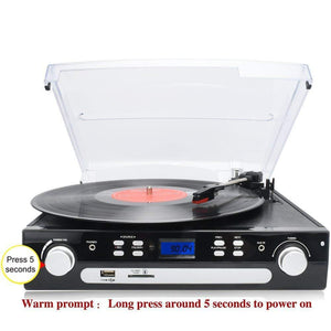 Turntable Record Player Built-in Stereo Speakers