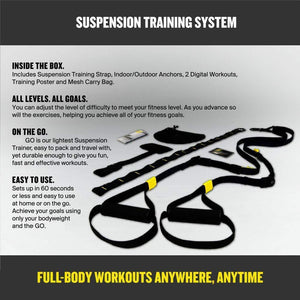 Suspension Trainer System: Lightweight & Portable