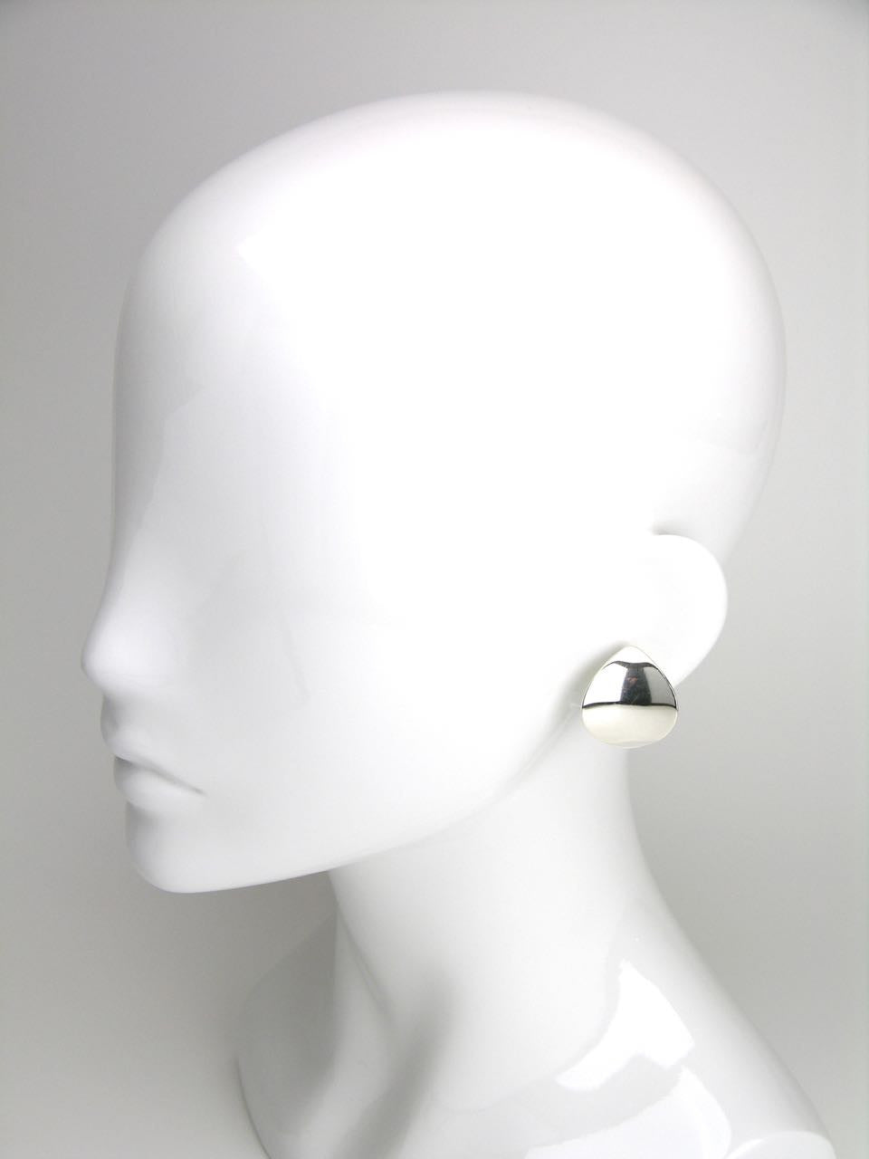 Georg Jensen silver ellipse clip earrings - design 131