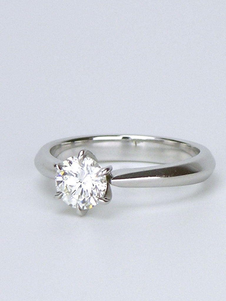 18k white gold diamond solitaire ring