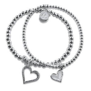 Talia's Hearts Set of 2 Bracelets
