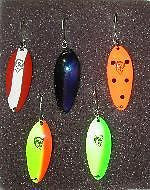 Five Eppinger Lures Fishing Devle Dog Jr. Kit 1-5316 1-5325 1-5350 1-5370 1-5371