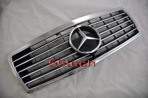 Mercedes W140 1992~1999 S-Class Grill w/frame - 55tech Motors