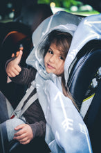 Load image into Gallery viewer, Car Seat Poncho - Car Crash Tested and CPSC Compliant - Gray Arrow