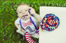 Load image into Gallery viewer, 1st B-Day Boy Outfit - Baseball Patriotic