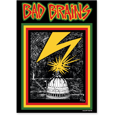 BAD BRAINS STICKER CAPITOL - Skateboards Amsterdam