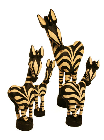 "Painted Wooden Zebra 30""  (largest in the group picture of the 4 sizes)"