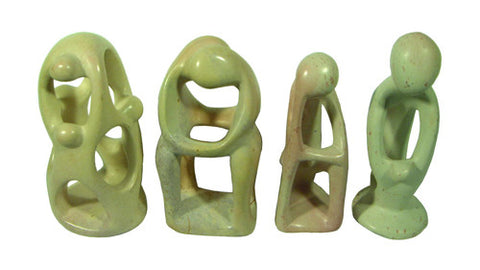 Mini Stone Sculptures - Set of 4 (Assorted)