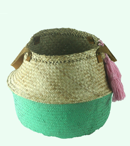 Teal Seagrass Basket (min 2)