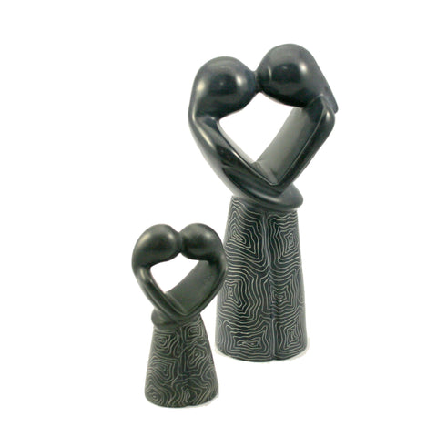Champagne Grey Kissing Lovers 10cm (min 6)